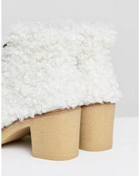 ASOS - Multicolor Wisteria Premium Faux Shearling Boot - Lyst