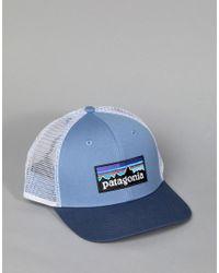 Patagonia - P-6 Logo Trucker Cap In Blue for Men - Lyst