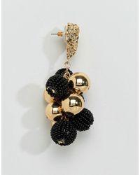 ASOS - Multicolor Metal Nugget & Bead Drop Earrings - Lyst