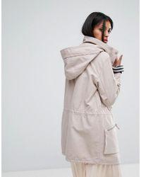 AllSaints - Pink Styler Parka Jacket - Lyst