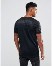 KTZ - Black Nfl Raiders Jersey With Mesh Back Logo Panel for Men - Lyst