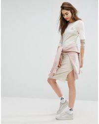 Le Coq Sportif - Multicolor Exclusive To Asos Tricolour Sweat Dress In Neutrals - Lyst