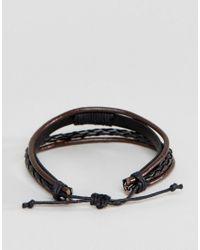 ASOS | Bracelet And Ring Pack In Black for Men | Lyst
