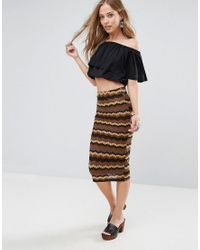 Glamorous | Brown Bodycon Skirt | Lyst