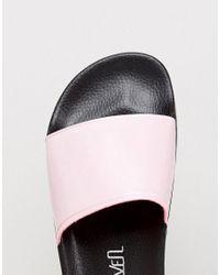 Sixtyseven - Pink Flatform Slide Flat Sandals - Lyst