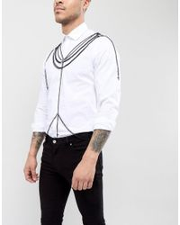 ASOS - Design Body Harness In Black With Crosses for Men - Lyst
