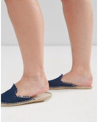 ASOS - Metallic Exclusive Pack Of 2 Moon And Star Charm Anklets - Lyst