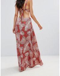 Somedays Lovin Orange Side Split Maxi Beach Skirt