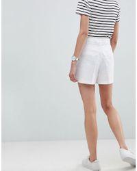 ASOS - White Asos Tailored D-ring Linen Shorts - Lyst