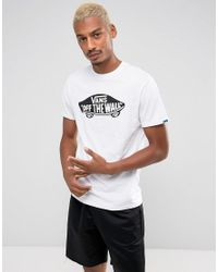 8503a6b803ca72 Vans Off The Wall Logo T-shirt In White Vjayyb2 in White for Men - Lyst