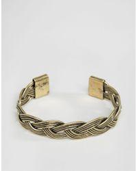 ASOS | Metallic Plaited Bangle In Gold for Men | Lyst