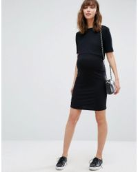 New Look - Black Double Layered Nursing Dress - Lyst