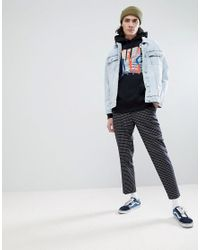 Vans - Above Chima Pullover Printed Hoodie With Backprint In Black for Men - Lyst