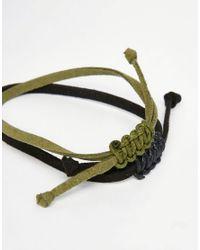 ASOS - Black Rope Bracelet Pack - Multi for Men - Lyst