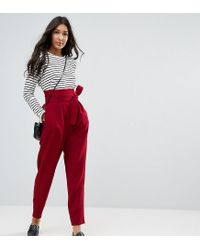 ASOS - Tailored Super High Waist Balloon Tapered Pant With Self Belt - Lyst
