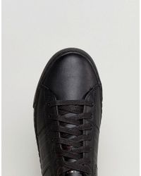 Tommy Hilfiger - Jay Leather Trainers In Black for Men - Lyst
