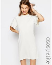ASOS   Natural Lightweight Sweat Dress With Angel Sleeve   Lyst