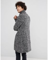 ASOS - Gray Asos Longline Heavyweight Knitted Duster Cardigan In Charcoal for Men - Lyst