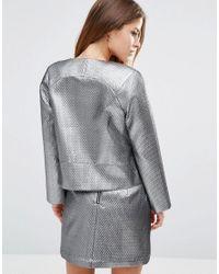 ASOS - Metallic Quilt Jacket - Lyst
