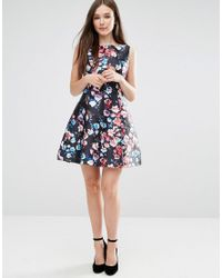 Darling - Black Catriona Skater Dress - Lyst