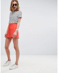 ASOS - Orange Tailored D-ring Linen Shorts - Lyst