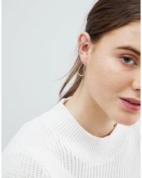 Weekday - Metallic Sterling Silver Blob Earrings - Lyst
