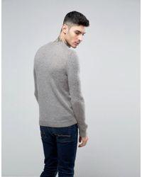 ASOS - Mohair Mix Crew Neck Sweater In Gray for Men - Lyst