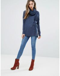 French Connection - Blue Baby Soft Cowl Neck Sweater - Lyst