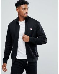Fila | Black Track Jacket With Front Panel for Men | Lyst