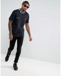 Ellesse | T-shirt With Logo High Neck In Black for Men | Lyst