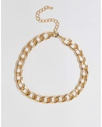 ASOS | Metallic Curb Chain Choker Necklace | Lyst