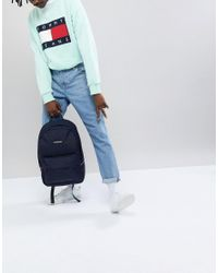 Tommy Hilfiger - Blue Small Logo Backpack Exclusive To Asos In Navy for Men - Lyst