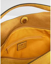 Oasis | Yellow Slouch Bag With Detachable Scarf | Lyst