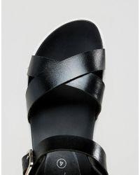 Park Lane - Black Flatform Sandal - Lyst