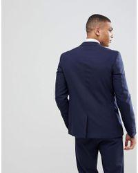 ASOS - Blue Asos Skinny Suit Jacket In Navy for Men - Lyst