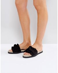 ASOS - Black Jukebox Knotted Espadrille Sliders - Lyst