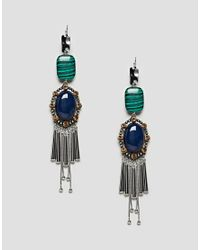 ASOS DESIGN - Multicolor Statement Acrylic And Jewel Stick Earrings - Lyst