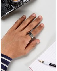Icon Brand - Metallic Signet Ring Insilver - Lyst
