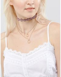 ASOS | Multicolor Multirow Cut Out Flower Choker Necklace | Lyst