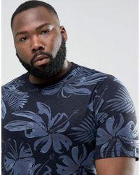 Tommy Hilfiger - Blue Plus Igy T-shirt Flower Print Regular Fit In Navy for Men - Lyst