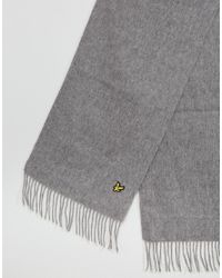 Lyle & Scott - Gray Lambswool Scarf Grey for Men - Lyst