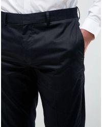 ASOS - Wedding Skinny Crop Pants In Black for Men - Lyst