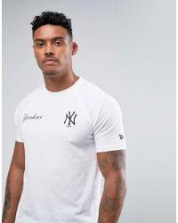 KTZ   White Tech Series Yankees T-shirt for Men   Lyst