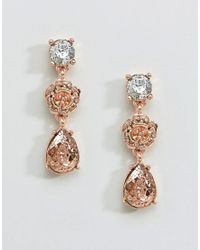 Coast | Pink Floral Rose Gold Earrings | Lyst