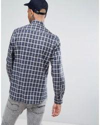 Aquascutum - York Crest Logo Check Shirt In Green for Men - Lyst