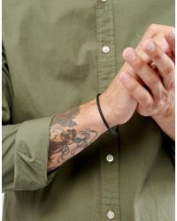 ASOS | Bangle In Matte Black for Men | Lyst
