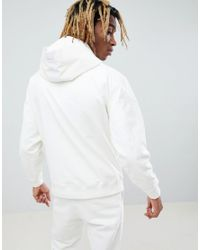 ASOS - White X Unknown London Cord Hoodie With Half Zip for Men - Lyst