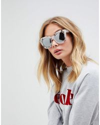 Quay - Pink Sugar And Spice Marble Frame Sunglasses - Lyst