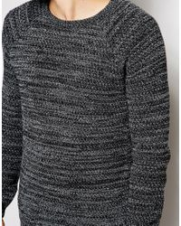 ASOS - Jumper With Twist Yarn - Black for Men - Lyst