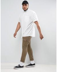ASOS - Plus Oversized Oxford Shirt In White for Men - Lyst